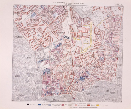 Descriptive map of London Poverty